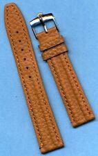 GENUINE STEEL ROLEX BUCKLE GENUINE BISON BUFFALO WATCH STRAP 18mm LEATHER LINED