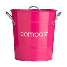 Premier housewares Chaud Rose Intérieur Déchet Bac à Compost Seau Caddie Plan