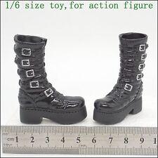 X124-34 1/6 Scale HOT Girl Black Boots (hollow) TAKARA CG CY TOYS
