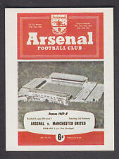 Panini - Football 84 - # 253 1957/58 Arsenal v Manchester United