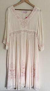 Bb Belly Basics Maternity Romantic Boho Dress Georgette Embroidery Dress