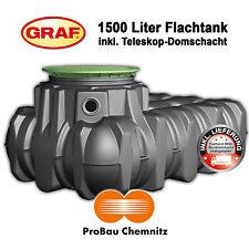Flachtank Platin 1500 Liter, Set mit Domschacht begehbar, AKTION inkl. Lieferung