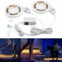 Single Double PIR Sensor Strip Motion Activated Bed Light Operated Warm White