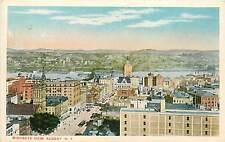 New York, Ny, Albany, Birdseye View 1920's Postcard