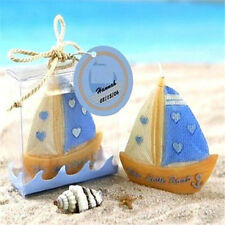 FD2770 Lucky Sailing Boat Candle With Box For Wedding X'mas Home Decor Cute ☆