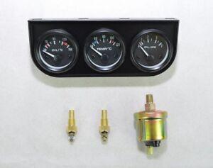 Zusatz Instrumente Zusatzanzeige Kombi Öltemp. Wassertemp. Öldruck 52mm schwarz