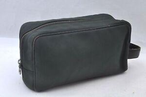 Authentic Louis Vuitton Taiga Parana Clutch Bag Green M30752 LV A0136