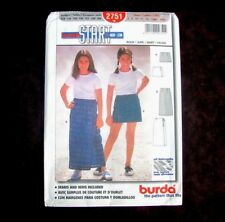Burda patrón 2751 Junior Miss Falda 2 longitudes Talla 8 - 14 con costuras  dobladillos sin cortar 9dfe797cdecac