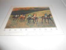 EDGAR DEGAS - RACEHORSES - CHEVAUX DE COURSE - ON WOOD - APPROX. 10 x 8 SIGNED