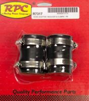 RPC Radiator Hose Adapter - 1-3/4 in to 1-1/2 or 1-1/4 in - Rubber - Black - Kit