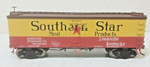 Southern Star Railroad 36' Billboard Wood Meat Reefer 208 Metal Wheels Atlas