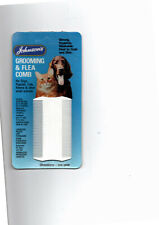 Johnsons Grooming & Flea comb in white pet grooming cats & dogs brand new no2