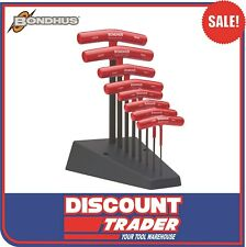 Bondhus T-Handle Hex End Key Set 8 Piece Metric with Stand - Made in USA - 13389
