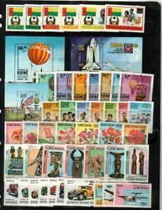 Guinea-Bissau Mint NH sets & S/S (Catalog Value $79.85) [TC1381]