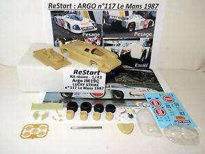ARGO JM19C n°117 Le Mans 1987 SCHANCHE HOY LUCKY STRIKE Kit Résine ReStart 1/43
