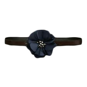 NWT WOMENS ABERCROMBIE & FITCH SIZE XS/S BLUE FLOWER FLORAL LEATHER BELT