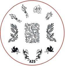 Stampingschablone A25, Amor, Punktr Blumen .Liebe Ranken, 11 Motive