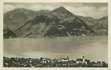 Switzerland Beckenried panorama photo postcard