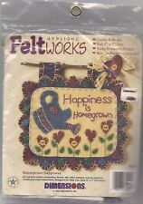 NIP!! DIMENSIONS FELT WORKS--HOMEGROWN HAPPINESS--CRAFT KIT