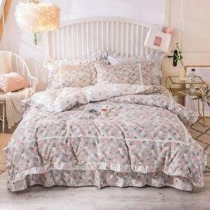 Princess  Home Textile Bedding Set Quilt Duvet Cover Full Queen King Size 3/4Pc