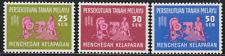 (14)MALAYSIA MALAYA FEDERATION 1963 FREEDOM FROM HUGER SET 3V FRESH MNH CAT RM37