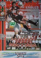Programm 1996/97 SG Eintracht Frankfurt - VfL Wolfsburg