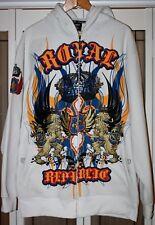 Royal Republic Clothing Company  Zipper  Hoodie  2X White w/Logo Unisex