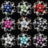 1 Pcs Fashion Faux Pearl Rhinestone Diamond Crystal Vintage Flower Brooch