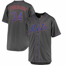 New York Mets #34 Syndergaard Men's Charcoal Big & Tall Jersey MLB
