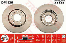 Fits Vauxhall Corsa 1.7 CDTi 06-15 Pair of Front Brake Discs 278mm Vented