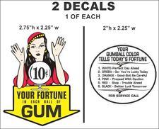 Vintage Gypsy Fortune Teller 10cent Gumball Machine Oak Acorn Northwestern Decal