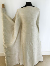 Champagne Blossom Crushed Taffeta with Silver Highlights Dressmaking Fabric