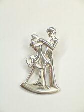 Spilla da giacca (pins) con BALLERINI in Argento 925 - ballo - musica -