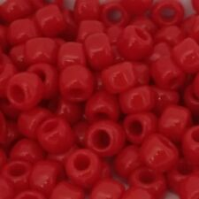 Size 6 4mm #7538 150 beads approx Opaque Pepper Red Toho Seed Beads