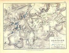 Map - Battle of Borodino 7 September 1812 - Napoleonic Wars