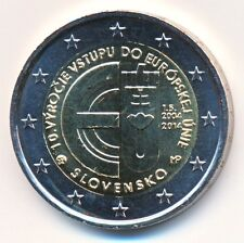 Slowakei 2 € Euro Gedenkmünze 2014 10. Jahrestag Beitritt zur EU unz.-bfr.