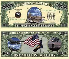 U.S. Navy Million Dollar Bill  Novelty Money