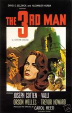 Film Noir Poster- The Third Man - Canvas Print