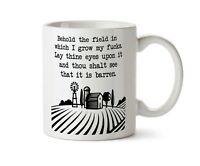 Zero F*cks Given Rude COFFEE MUG Funny Offensive Adult Humor Zero Fox TEA
