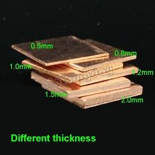 30pcs Laptop GPU CPU VGA Heatsink Copper Shim 15mmx(0.3,0.5,0.8,1,1.2,1.5) Pad