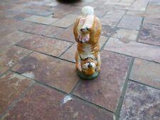 Vintage 1998 Vaillancourt Folk Art Whimsical Bunny Figure, Standing on it's Head