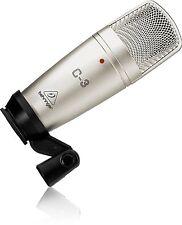 Behringer C-3 Dual-Diaphragm Condenser Microphone Mic w/ Hard Case & Clip