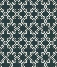 Wallpaper Designer Charcoal Gold White Trellis on Black