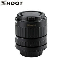 SHOOT N-AF1-B Macro Extension Tube Adapter Ring Set Auto Focus for Nikon Camera