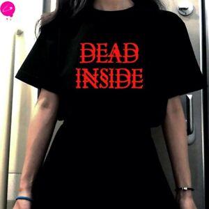 Pentagram Dead Inside Killstar Banned Black Gothic Punk Harajuku Grunge T Shirt