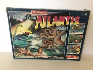 Vintage: Escape From Atlantis - Board Game Waddingtons (1986) 100% Complete