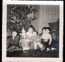ENFANT & PERE NOEL au SAPIN / Photo Amateur en 1960