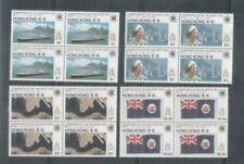 China Hong Kong 1983 QEII Commonwealth day Block of 4 sets