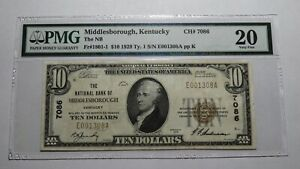 $10 1929 Middlesborough Kentucky KY National Currency Bank Note Bill #7086 VF20