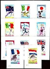 Yemen Kgr 1968 ** Bl.83/93 ohne D Olympische Spiele Olympic Games